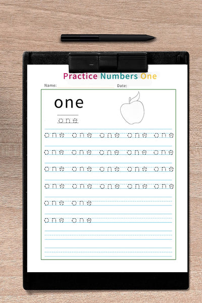 number writing practice sheets 1-20 ( 20 pages )