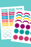 Printable binder stickers ( 6 pages )