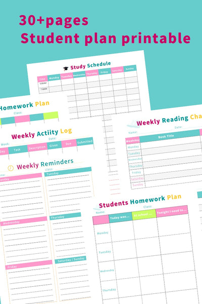 student planner ( 30+ pages )