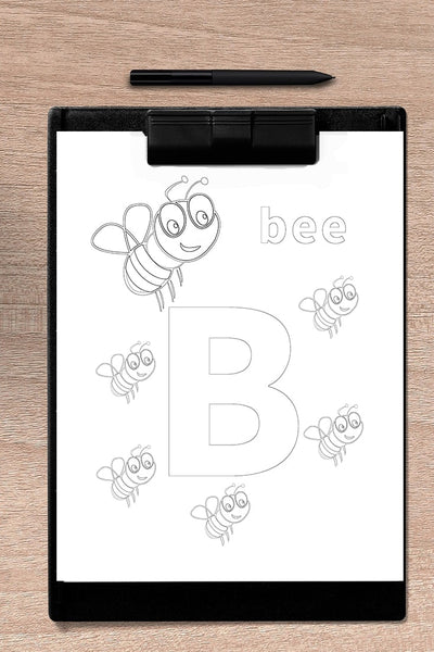 coloring letters printable - Alphabet (A-Z 26 pages)