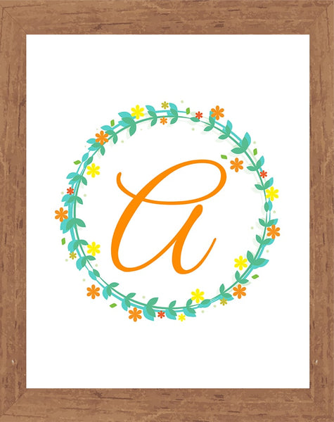 Letters Monogram Wall Art ( A-Z 26 pages )