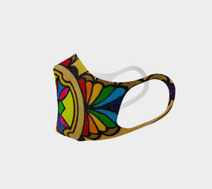 Reusable Double Knit Poly Face Mask - Colorful Graphic Design