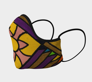 Reusable Cotton Sateen Face Mask - Graphic Print Design