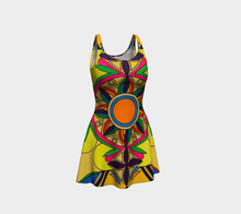 Load image into Gallery viewer, Sleeveless Colorful Print Flare Dress
