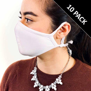 3 Layer Face Mask - White (Qty Discount)-Face Mask-MASKlala-10 PACK WHITE-MASKLaLa