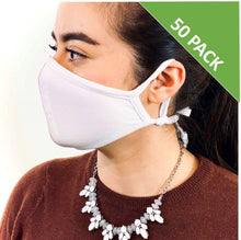 Load image into Gallery viewer, 3 Layer Face Mask - White (Qty Discount)-Face Mask-MASKlala-50 PACK WHITE-MASKLaLa