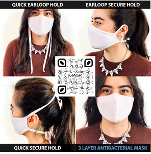 3 Layer Adjustable Ties Face Mask (100 Pieces)-Bulk-MASKlala-White-MASKLaLa