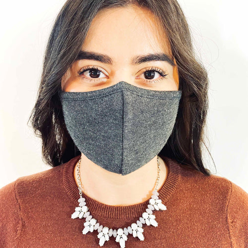 3 Layer Earloop Face Mask (100 Pieces)-Bulk-MASKlala-Charcoal 95/5-MASKLaLa