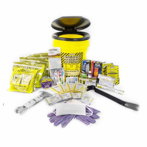 Toilet Bucket Emergency Kit - Deluxe (4 Person)-Emergency Kit-Mayday-MASKLaLa