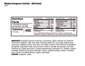 Mayday Mini Meal Emergency Food Bar 400 Cal (25 Count)-Emergency Kit Refill-Mayday-MASKLaLa