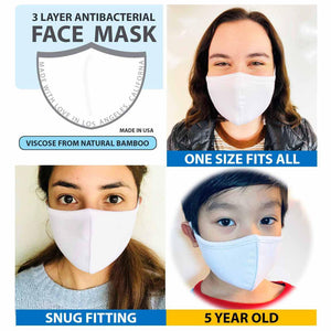 3 Layer Face Mask - White (Qty Discount)-Face Mask-MASKlala-3 PACK WHITE-MASKLaLa
