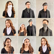 Load image into Gallery viewer, Antibacterial Bandana - Charcoal (10 Pack)-Bandana-MASKlala-MASKLaLa