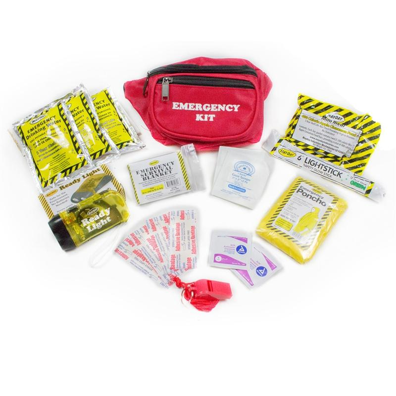 Emergency Fanny Pack Kit 12 Piece (1 Day) [3 Pack]-Emergency Kit-Mayday-MASKLaLa