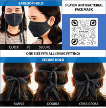 Load image into Gallery viewer, 3 Layer Face Mask - Charcoal-Face Mask-MASKlala-MASKLaLa