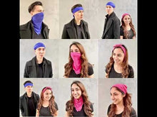 Load and play video in Gallery viewer, Antibacterial Bandana - Royal Blue (10 Pack)