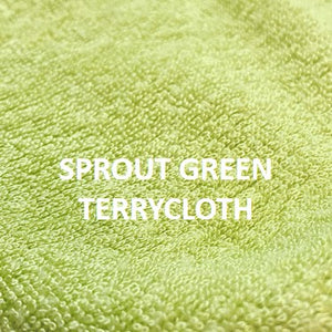 Custom - 3 Layer Earloop Face Mask (200 Pieces)-Bulk-MASKlala-Sprout Green Terrycloth 80/20-MASKLaLa