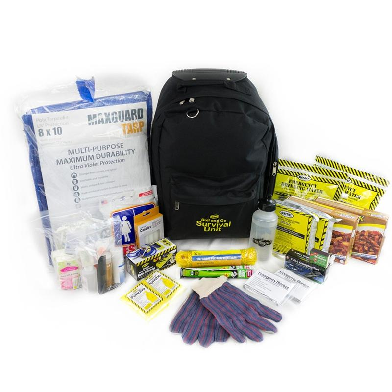 Survival Backpack Kit on Wheels (2 Person)-Emergency Kit-Mayday-MASKLaLa