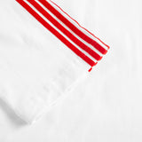 RAGLAN LONG SLEEVE JERSEY SWEATSHIRT with red velvet stripes