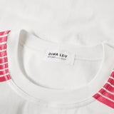 LONG SLEEVE JERSEY SWEATSHIRT with pink satin and red velvet stripes