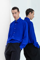 LONG SLEEVE BLUE VISCOSE LINING SHIRT