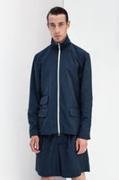 NAVY BLUE TAILORED ZIP UP JACKET