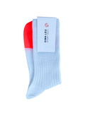 3 PACK UNISEX WHITE SOCKS with orange fluorescent tip