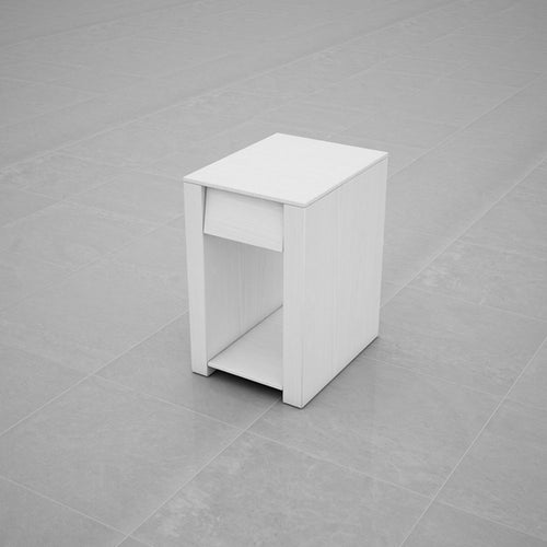 BEDSIDE TABLE (WHITE) - BS01