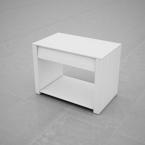 BEDSIDE TABLE (WHITE) - BS03