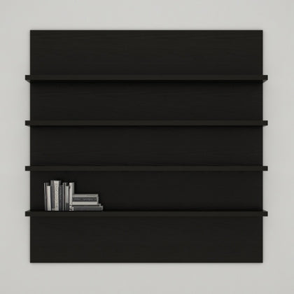 WALL SHELF UNIT (EBONY) - SH02