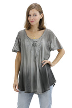 Load image into Gallery viewer, Ombre Tie Dye Cap Sleeve Blouse