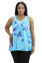 Load image into Gallery viewer, Floral Print V-Neck Tank Top 17251