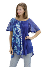 Load image into Gallery viewer, Ocean Tide Tie-Dye Cap Sleeve Blouse 18718