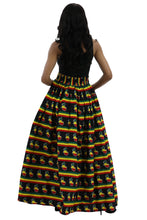 Load image into Gallery viewer, African Print Long Maxi Skirt 19417-164