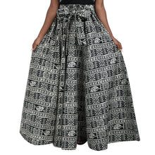 Load image into Gallery viewer, Long Length African Print Maxi Skirt Elastic Waist 19417-165