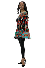 Load image into Gallery viewer, Long Sleeve Ankara Print Blouse 2271