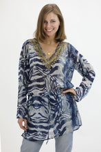 Load image into Gallery viewer, Digital Print Sequins Beach Cover-Up