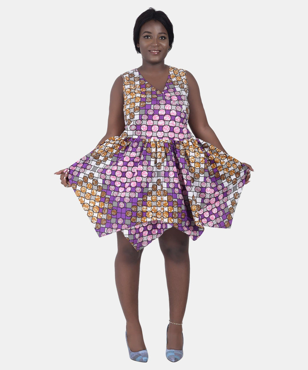 Mandala African Print Dress - Advance Apparels Inc
