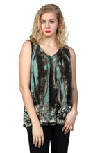Load image into Gallery viewer, Earth Tone V-Neck Tie Dye Tank Top 17795