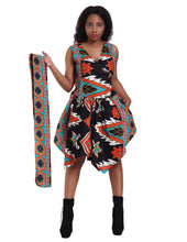 Load image into Gallery viewer, Mandala African Print Dress - Advance Apparels Inc