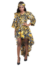 Load image into Gallery viewer, Hi-Lo Ankara Print Blouse/Dress AD2286-602