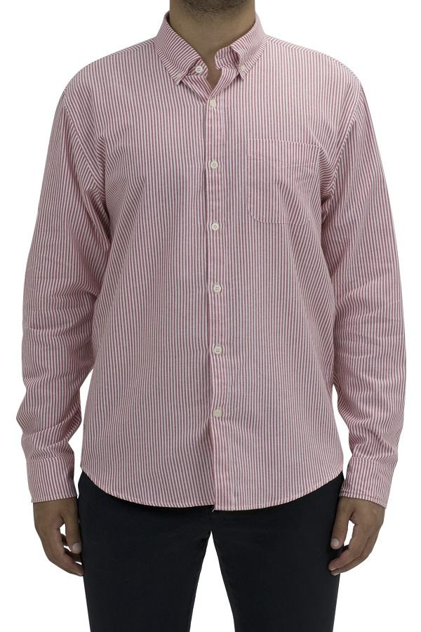 Crimson Harrison Stripe Long Sleeve Shirt