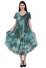 Load image into Gallery viewer, Batik + Tie Dye Trapeze Dress UDS52-2438