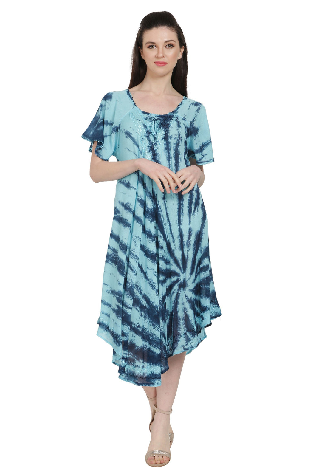 Waikiki Tie Dye Umbrella Dress w/ Sleeves UDS48-2403