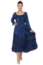 Load image into Gallery viewer, Long Sleeve Acid Wash Corset Dress