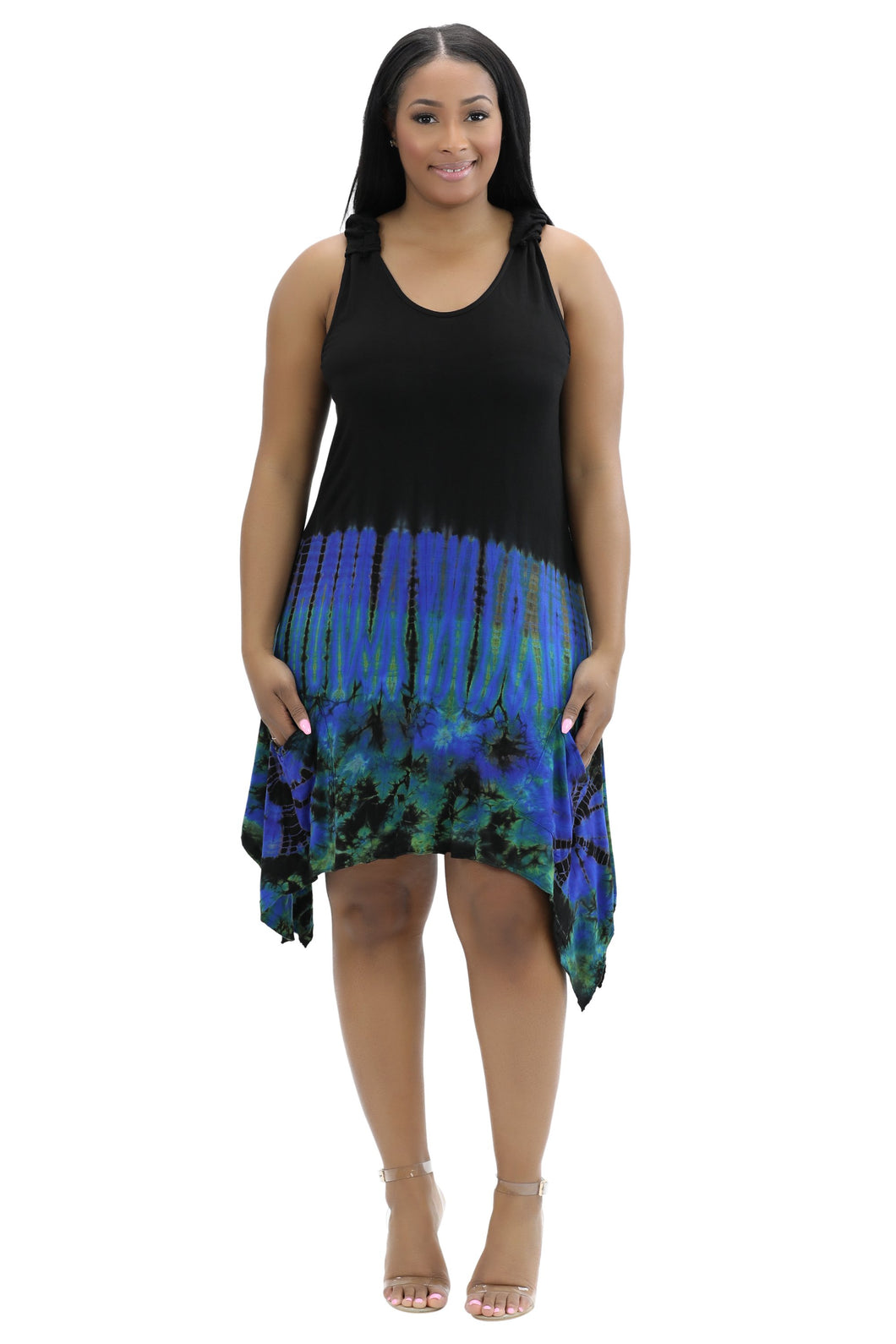 Spandex Tie Dye Dress w/ Pockets SP19