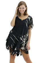 Load image into Gallery viewer, Sleeveless Tie-Dye Knits Dress w/ Fringes SPD45