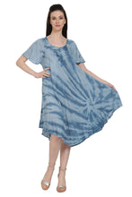 Load image into Gallery viewer, Waikiki Tie Dye Umbrella Dress w/ Sleeves UDS48-2403