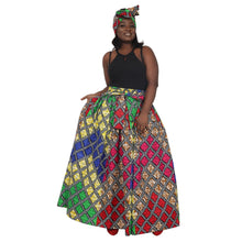Load image into Gallery viewer, Kaleidoscopic Ankara Print Long Maxi Skirt Elastic Waist 16317-94 - Advance Apparels Inc