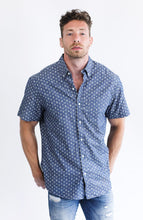 Load image into Gallery viewer, Navy Anchor Print Short Sleeve Shirt - Advance Apparels Inc