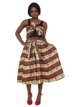 Load image into Gallery viewer, Tribal African Print Long Maxi Skirt Elastic Waist 16321-90 - Advance Apparels Inc